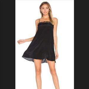 Anine Bing silk Black lace dress size XS